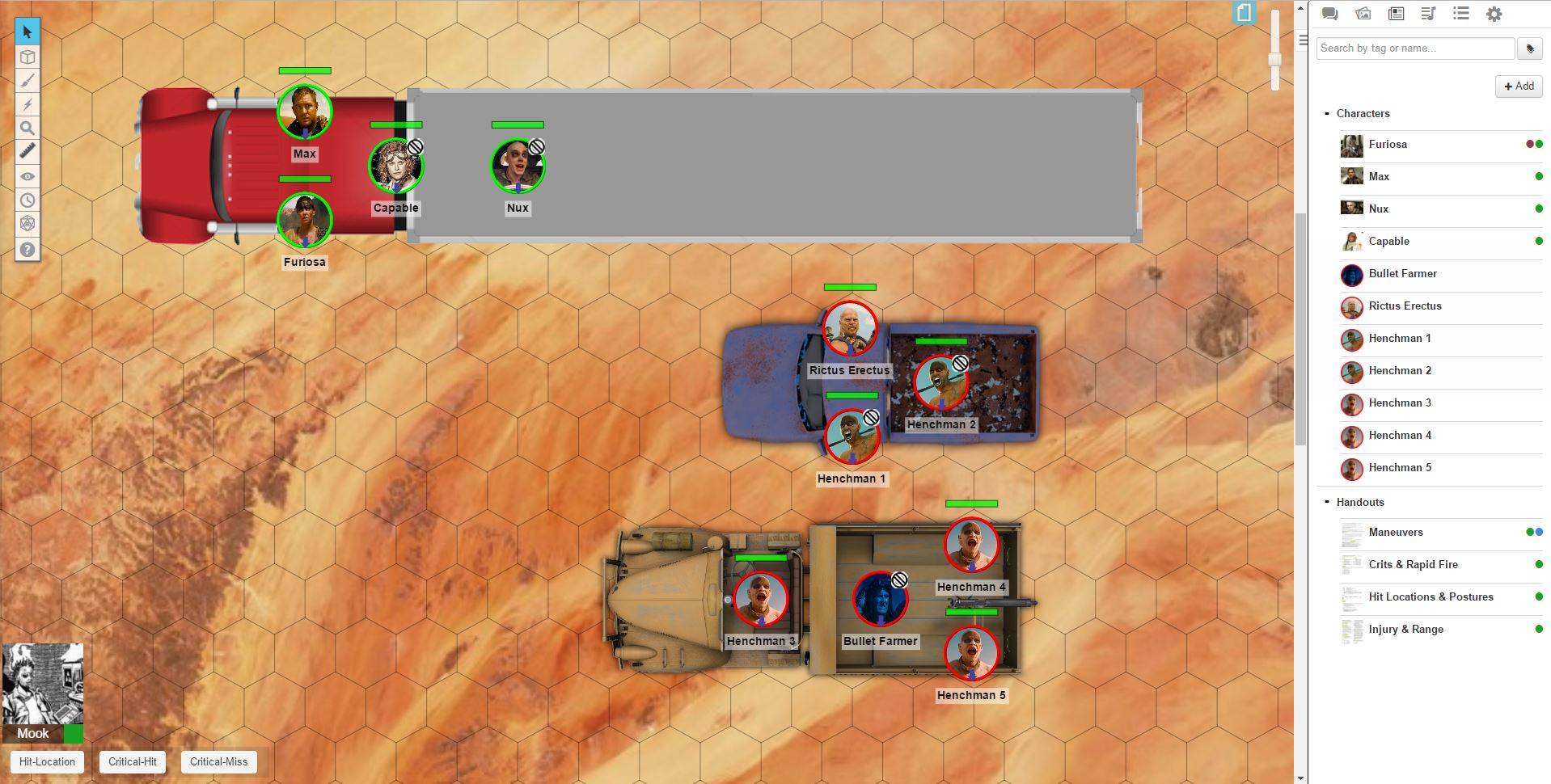 GURPS Roll20 Encounter – Fury Road   Game Geekery   Mobile